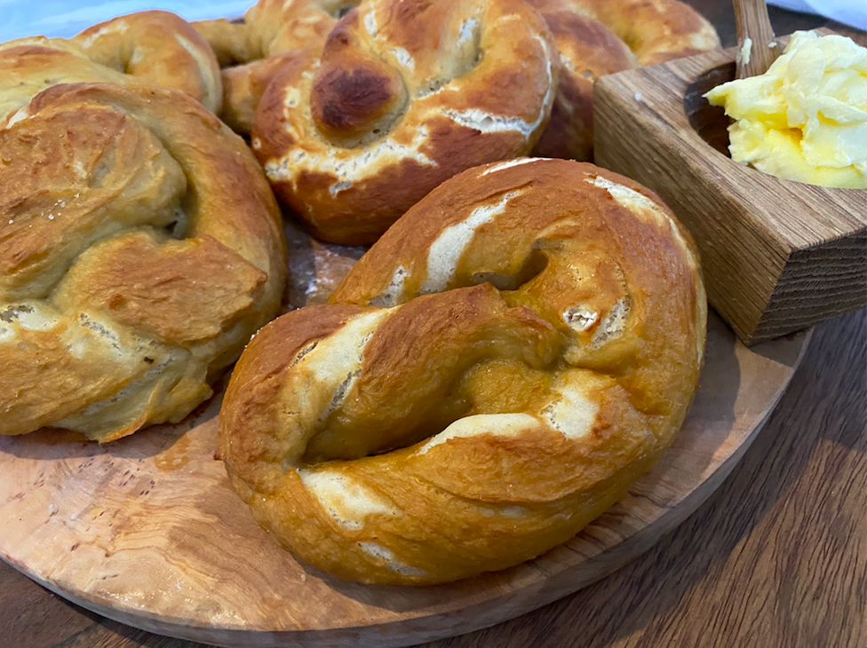 Soft, Chewy Pretzels and a virtual movie night